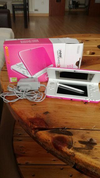 Nintendo 3DS XL Rosa y blanca
