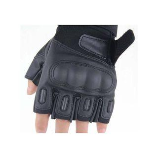 Guantes tácticos medio dedo para moto, caza, pesca