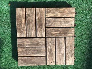 Suelo exterior madera