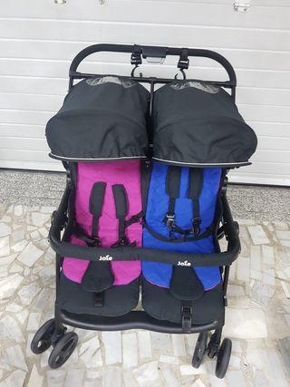 Carro silla de paseo gemelar Joie Casi nuevo