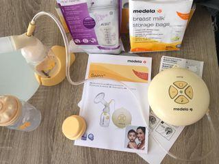 Extrator Medela+Calientabiberones+Biberones