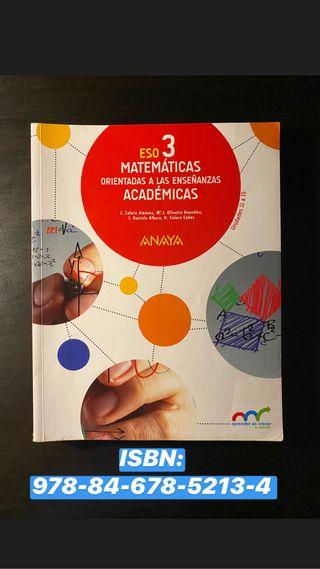 Libro de texto Matemáticas Académicas 3 ESO