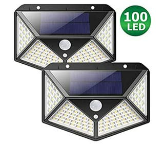 luces led solares para exterior