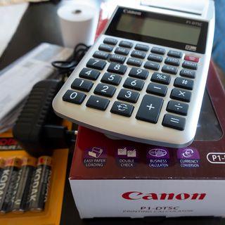Calculadora Canon con impresora
