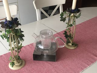 Tetera cristal con filtro incorporado