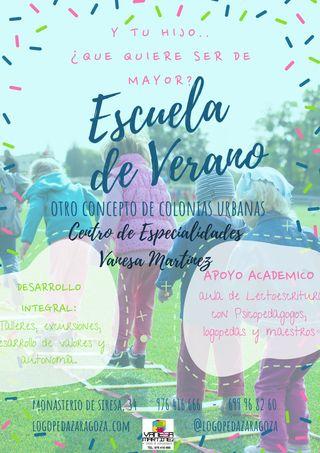 ESCUELA DE VERANO - COLONIA NIÑOS