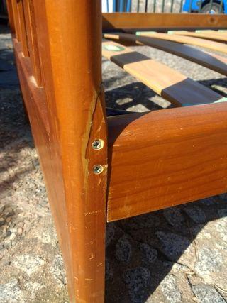 Cama individual madera