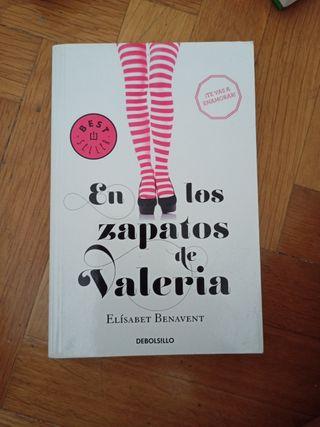 Novela de Benavent En los zapatos de Valeria