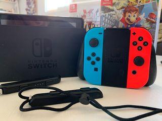 Nintendo switch+2 juegos+Pokémon en memoria