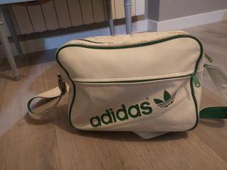 Bolsa mochila deporte Adidas blanca y verde
