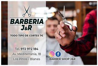 peluquería y barbería J&R todo tipo de cortes