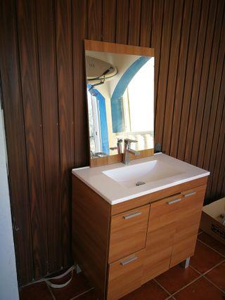 Mueble de cuarto de baño, espejo, aplique led