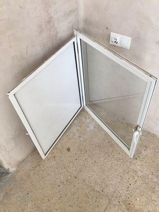 Ventana abatible aluminio blanco