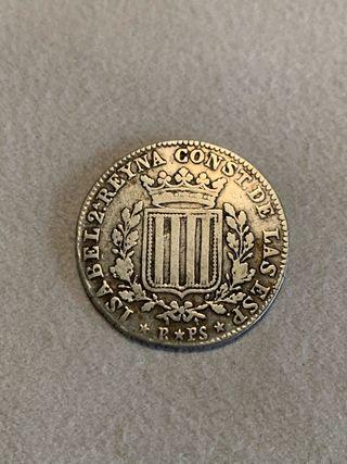 1 peseta 1837 Isabel II