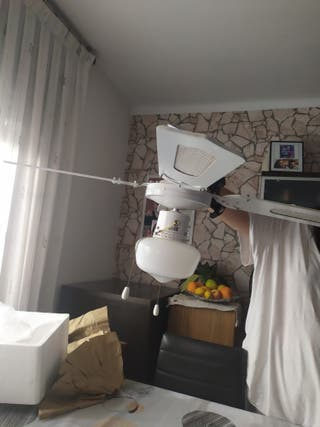 ventilador techo blanco