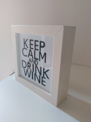 "Lámpara Led nueva ""Keep Calm and Drink Wine"""