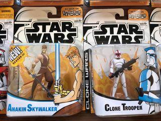 *SET COMPLETO* Star Wars 2003 Clone Wars Animated