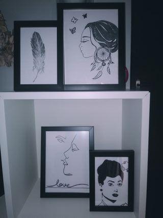 cuadros pequeños decoración