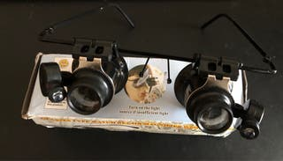 Gafas de relojero 20x con luz LED