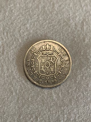 2 reales 1851 Isabel II