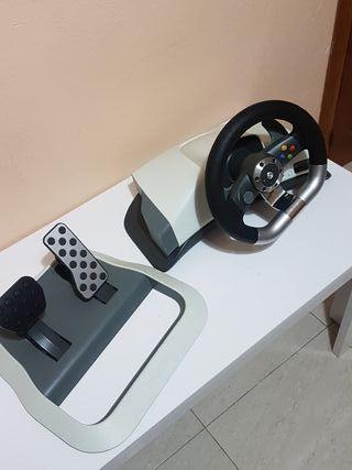 volante xbox 360 con sus cables