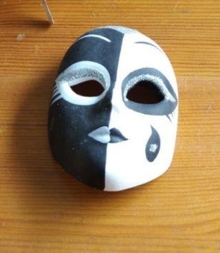 Máscara de carnaval cerámica, miniatura
