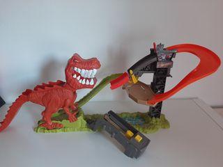 Pista coches Hot Wheels T-Rex