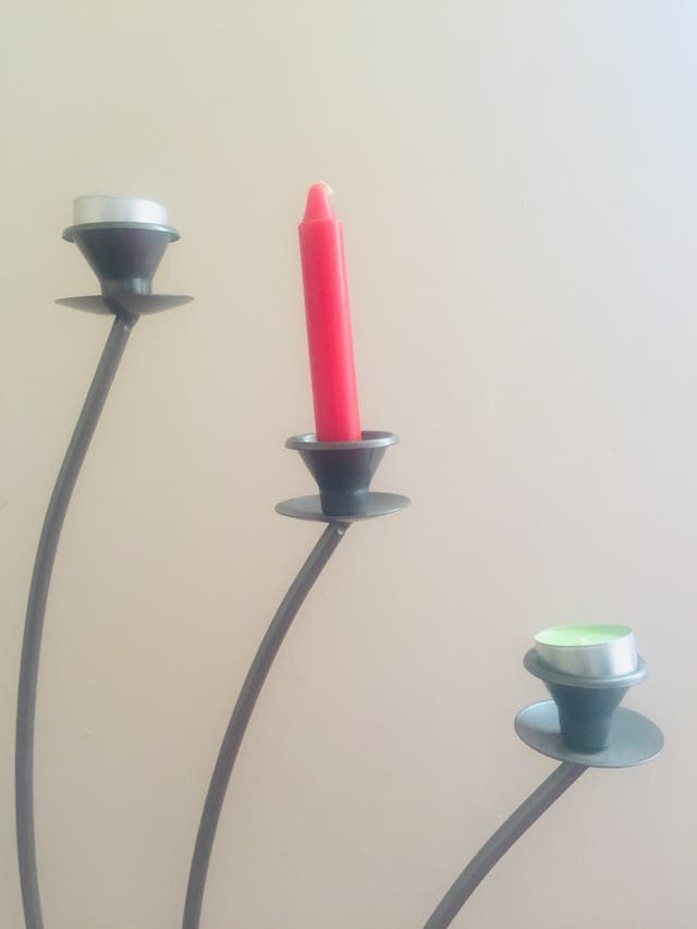 Candle holders.