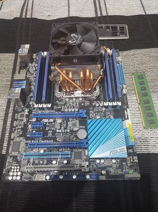 Placa + procesador + ram