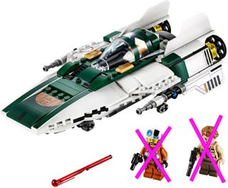 Lego Star Wars 75248 A Wing Starfighter no figuras