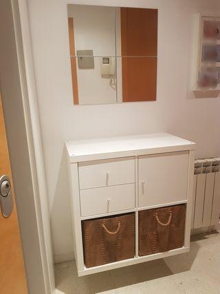 Mueble recibidor Kallax Ikea