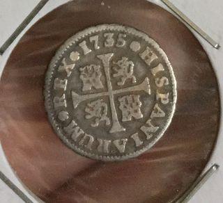 1/2 real de plata 1735 felipe v