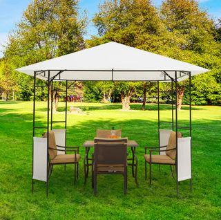 Carpa Cenador para Jardín Acero 3x3x2,6 m
