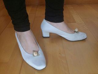 Zapatos de novia forrados