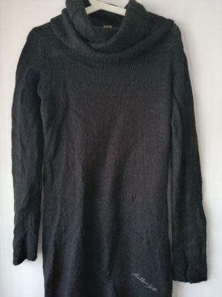 Vestido negro lana. TL.