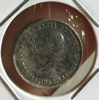 Moneda 1 real de plata 1852 Isabel ii
