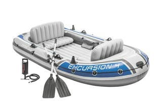 Barco hinchable para 4 personas