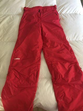 Pantalones esquiar fuxia