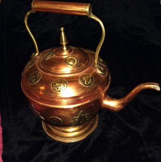 tetera de cobre antigüedad