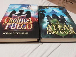 Pack libros El atlas esmeralda y crónica de fuego