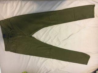 Pantalón tejano verde oscuro