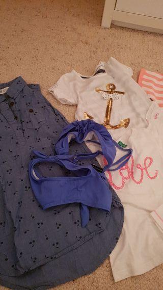 camisas, vestido y bañador