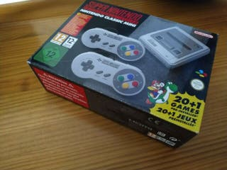 Super nintendo mini (SNES) como nueva