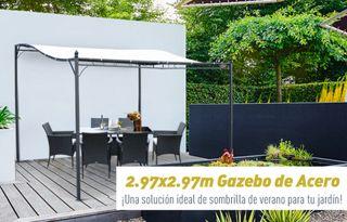 Pérgola Toldo 3x3x2.5 cm de Pared Jardín, Patio...