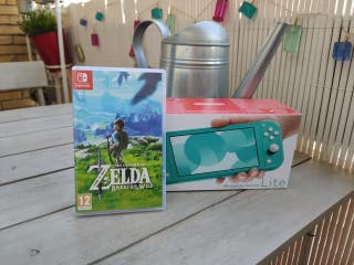 Nintendo Switch Lite + Zelda BOTW + Funda