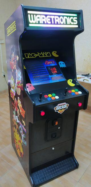Máquina recreativa arcade con monedero de 1 Euro