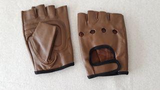 Mitones / guantes de piel de mujer