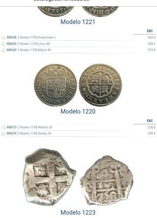 moneda de plata fernando VI 1758