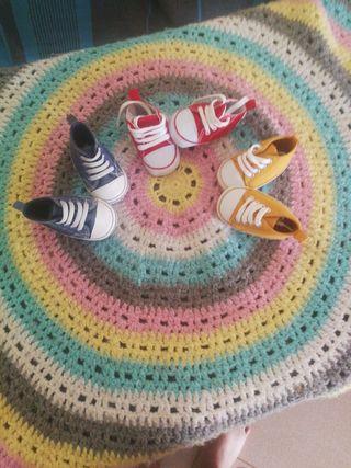 lote zapatillas 3-6 meses