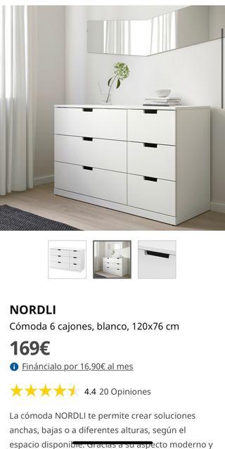 Cómoda Nordli Ikea